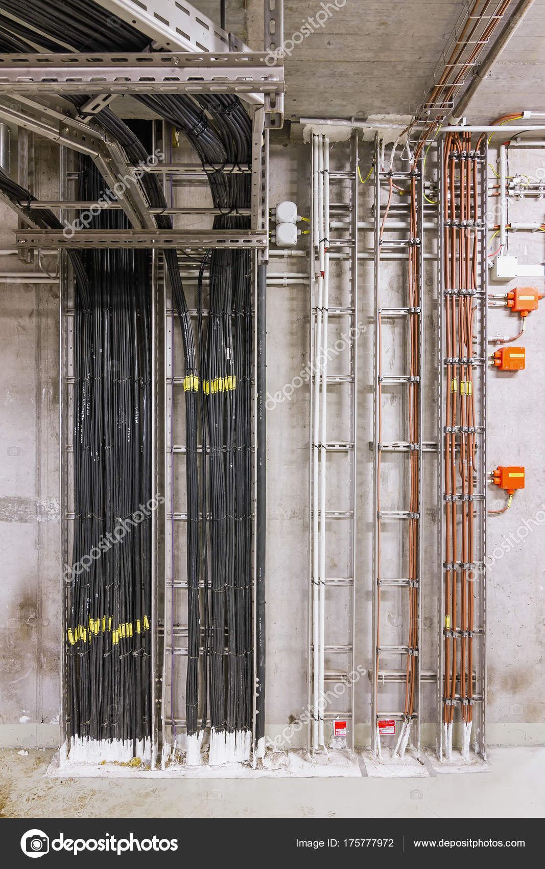 Electrical Wiring Industrial Building — Stock Photo © kefca #175777972