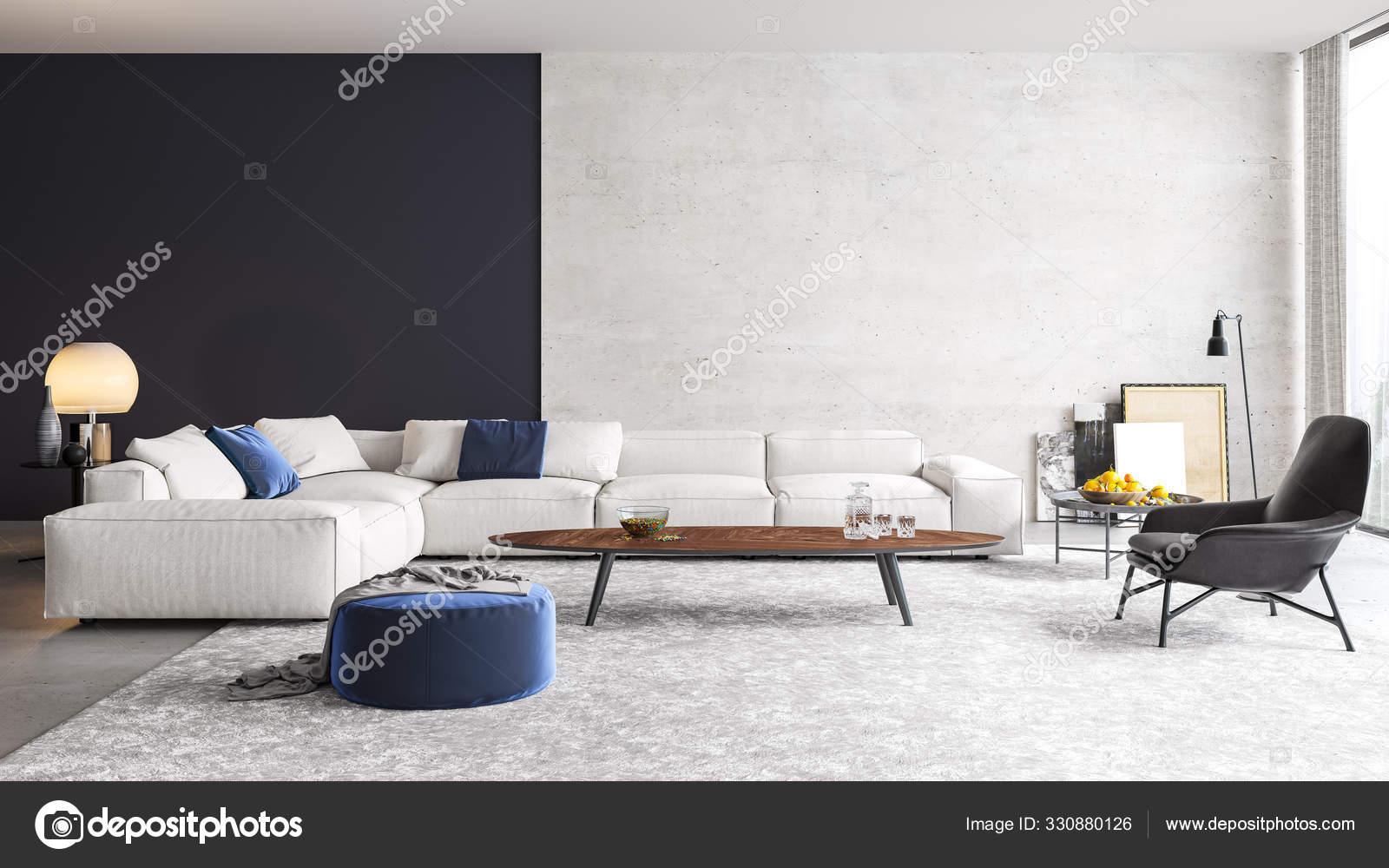 Modern Interior Design Living Room Apartment House Office ...