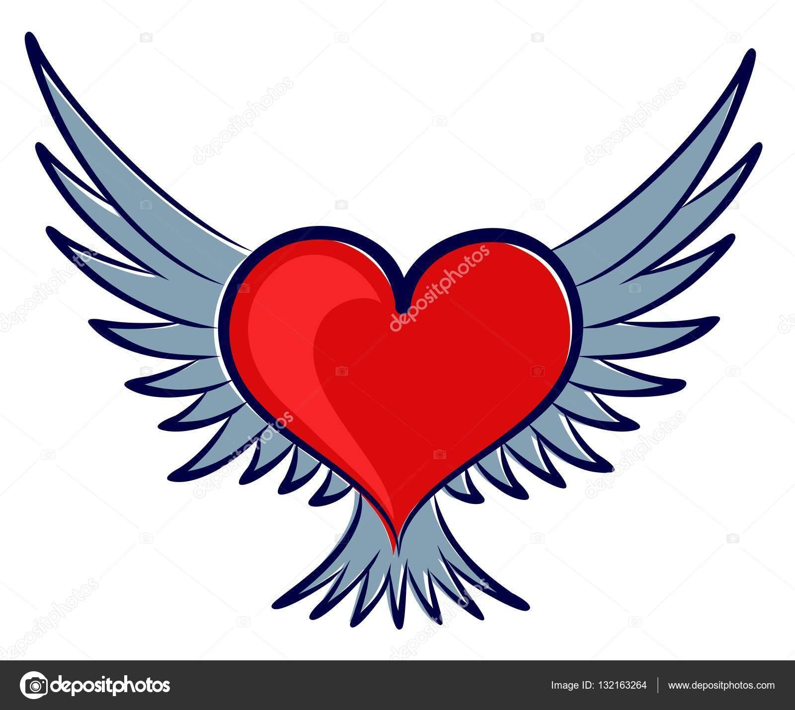 Corazón Con Alas Archivo Imágenes Vectoriales Designeran 132163264