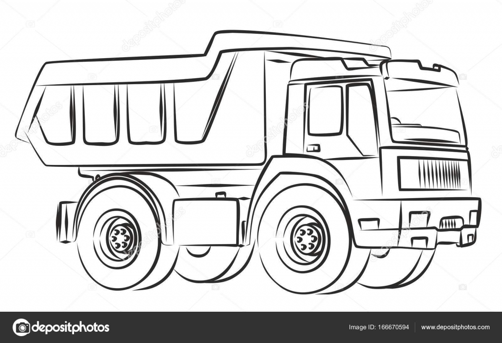 Der LKW Skizze — Stockvektor © Designer_an #166670594