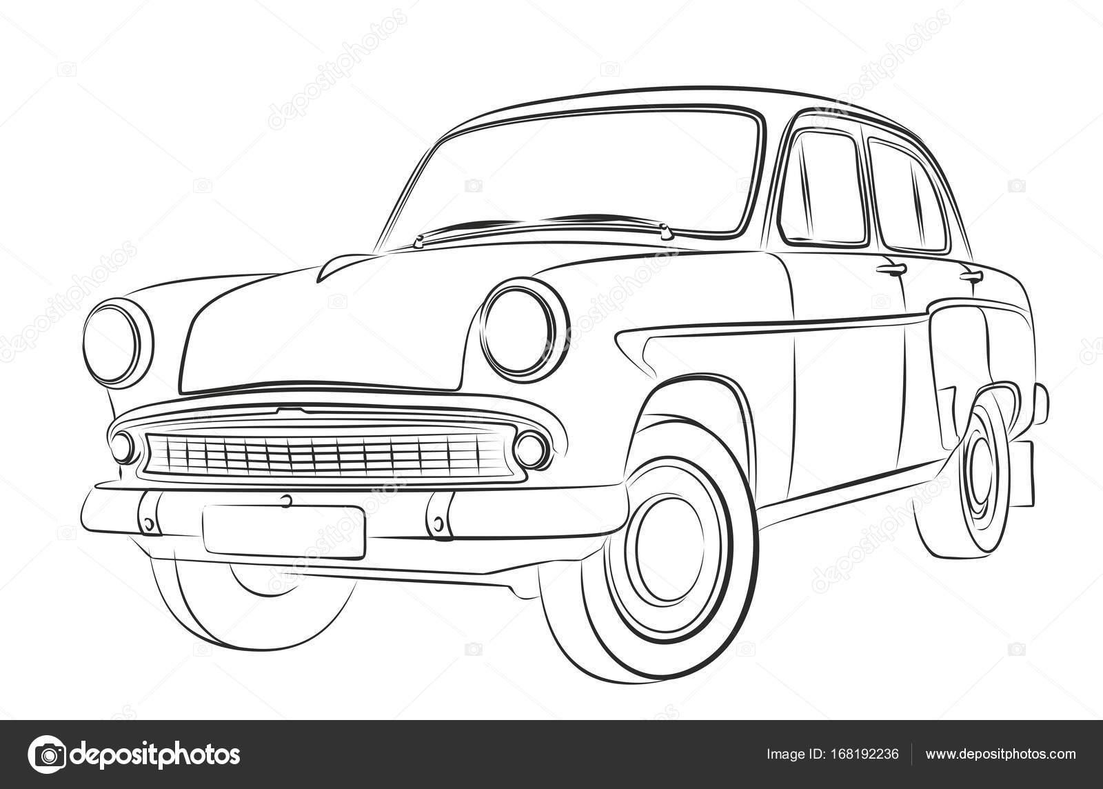 Ein Auto Skizze — Stockvektor © Designer_an #168192236