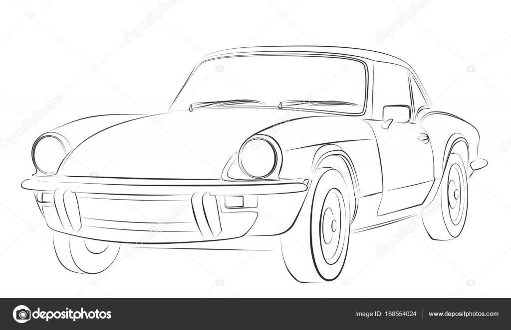 Ein Auto Skizze — Stockvektor © Designer_an #168554024