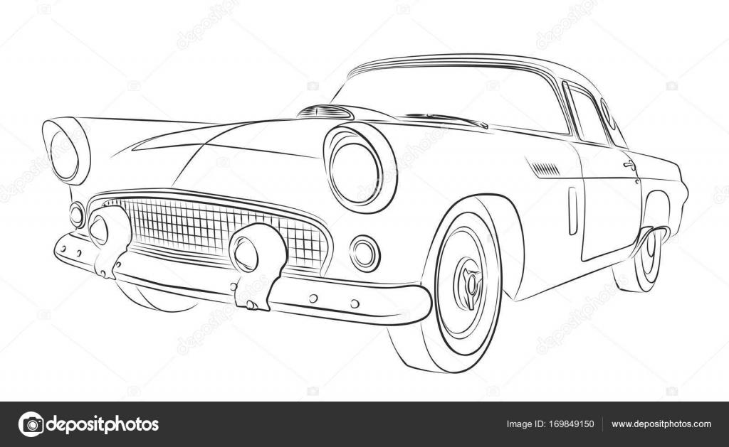 Ein Auto Skizze — Stockvektor © Designer_an #169849150