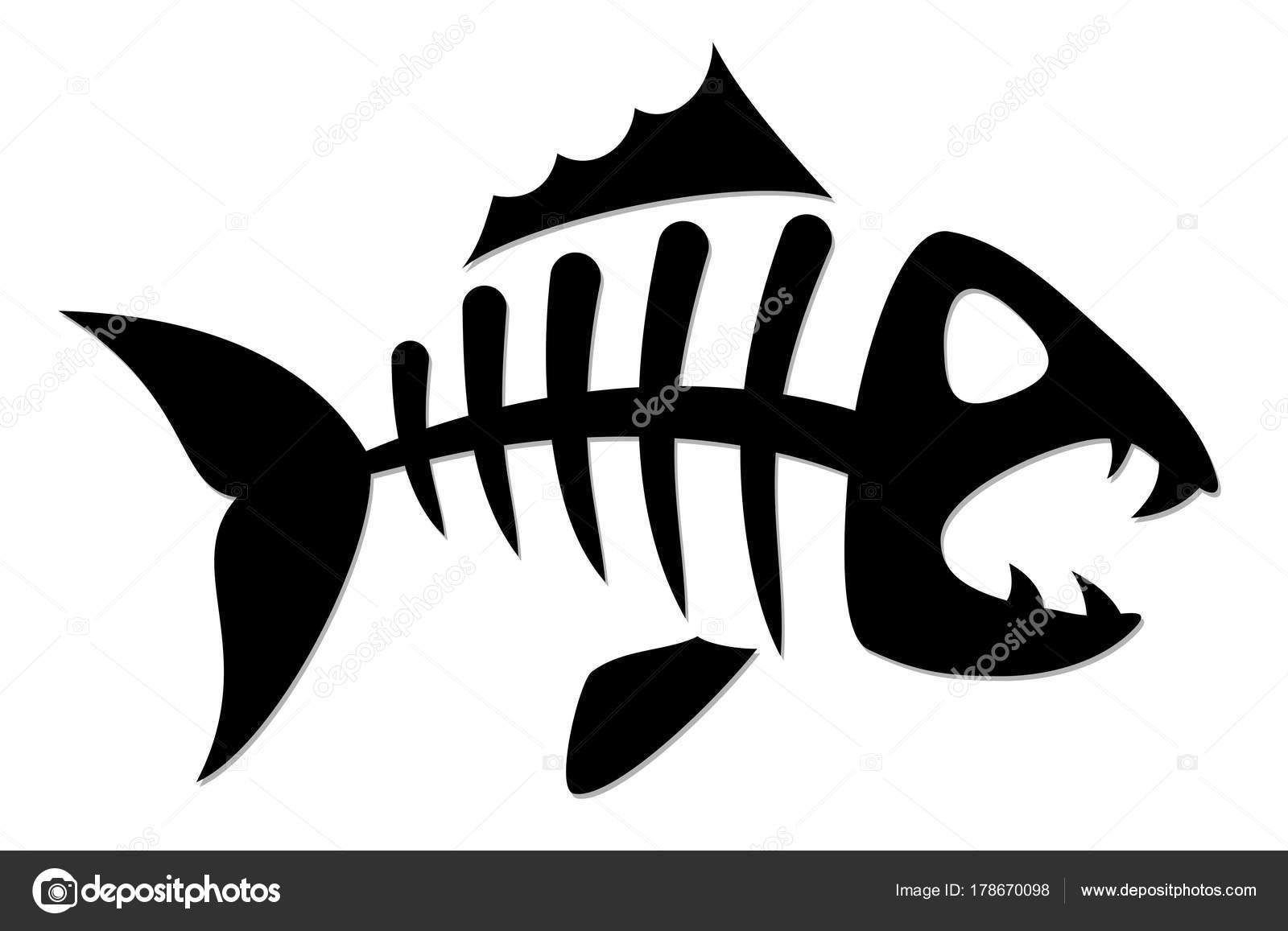 skeleton predatory sea fish stock vector designer an 178670098 rh depositphotos com fish skeleton logo restaurant fish skeleton logo with no copyright