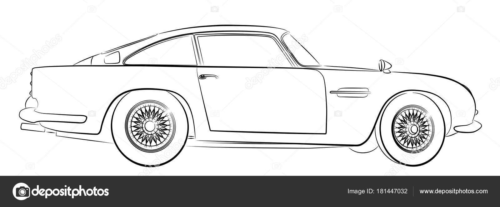 Eine Skizze Des Alten Retro Autos — Stockvektor © Designer_an #181447032