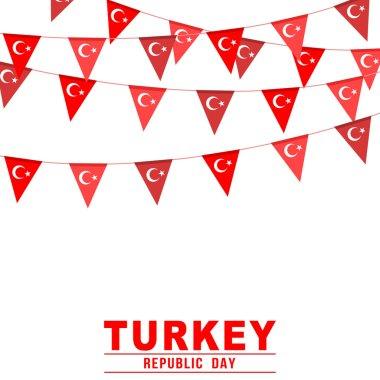 Turkey republic day buntings banner
