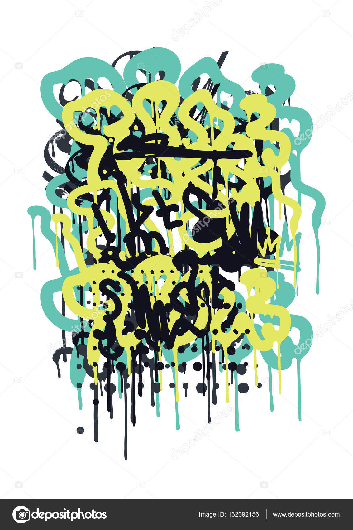 Backgraund graffiti tag stock vector