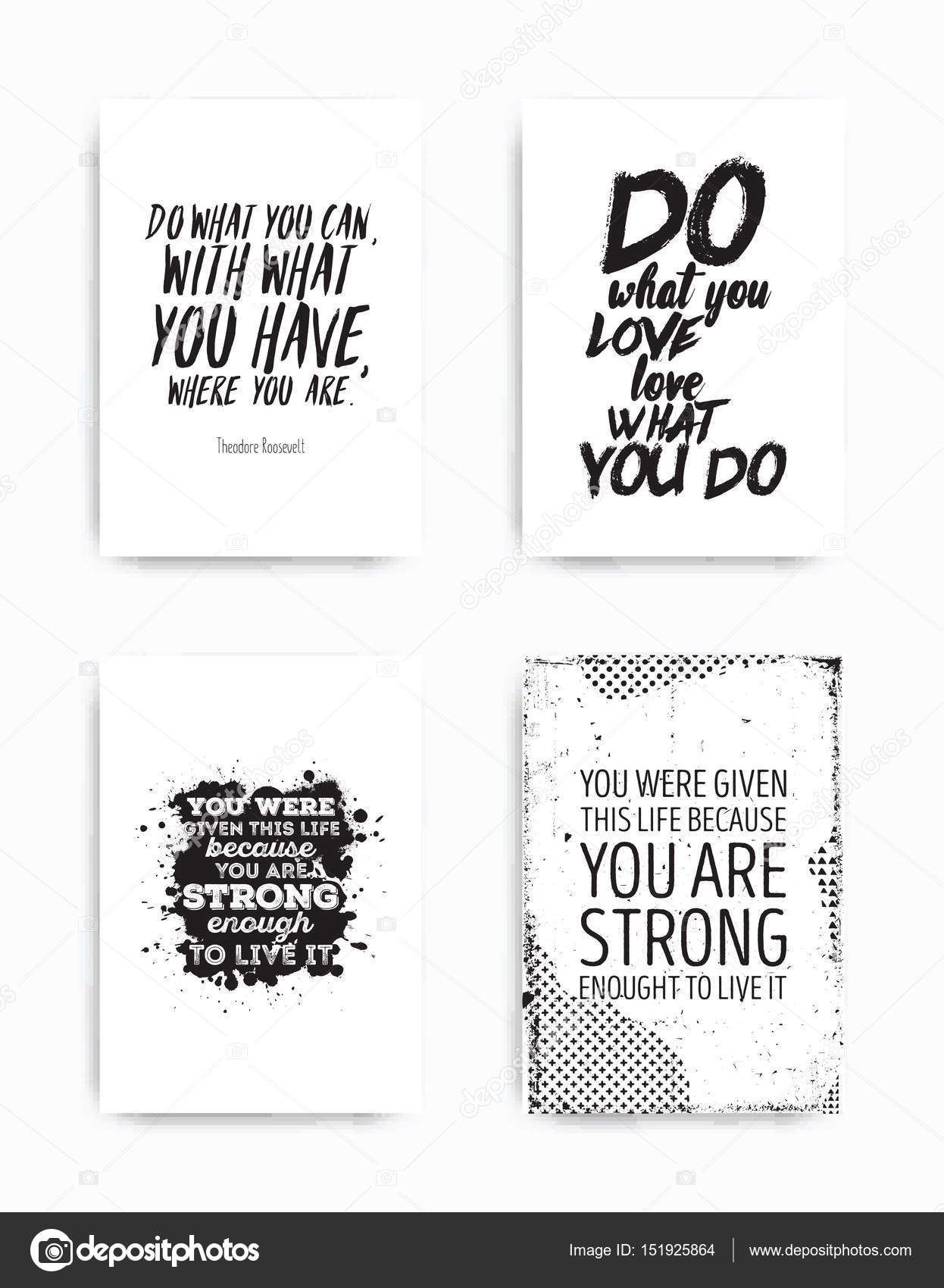 French bulldog quotes | Set posters quote — Stock Vector ...