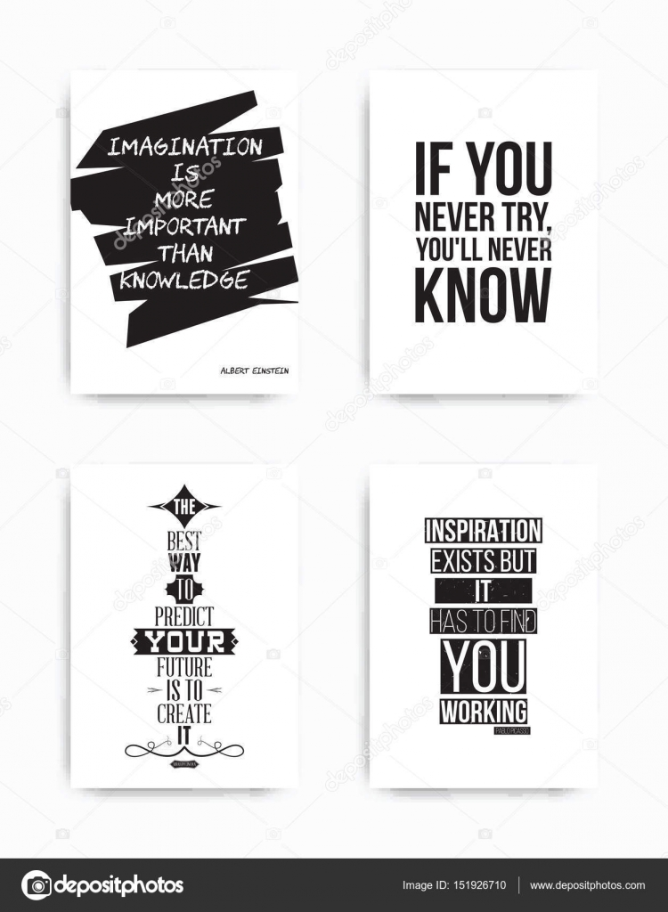 Set Posters Quote Stock Vector Vanzyst 151926710