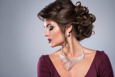 woman wearing beautiful jewelry