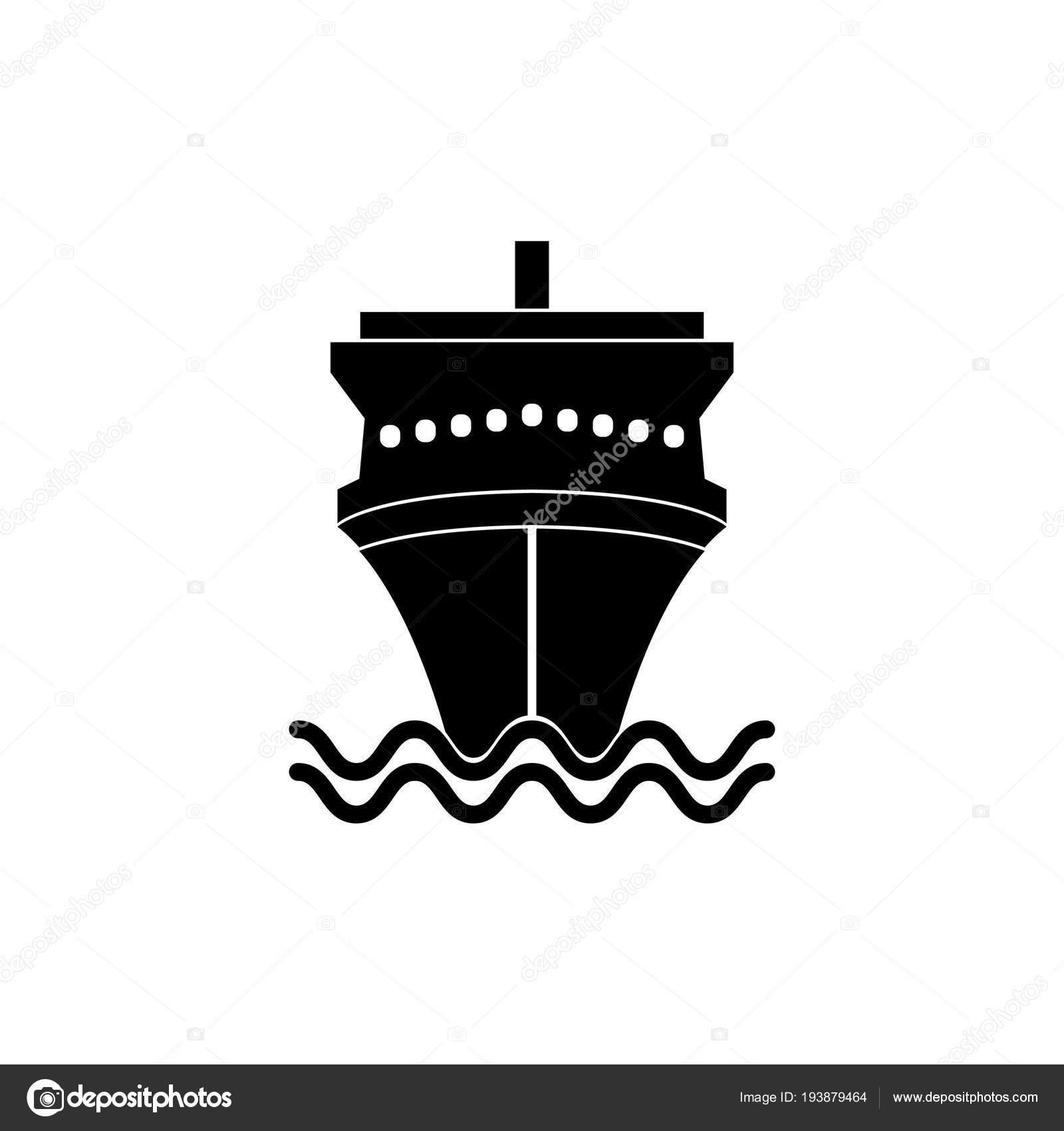 Gemi Simgesi Basit Vektör çizim Stok Vektör счастье 193879464