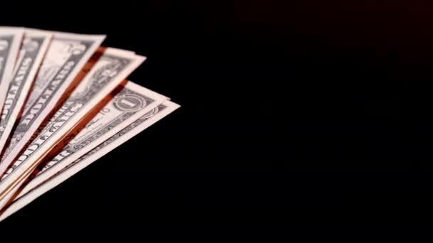 otáčení 100 amerických dolarů bankovky obchodní zázemí