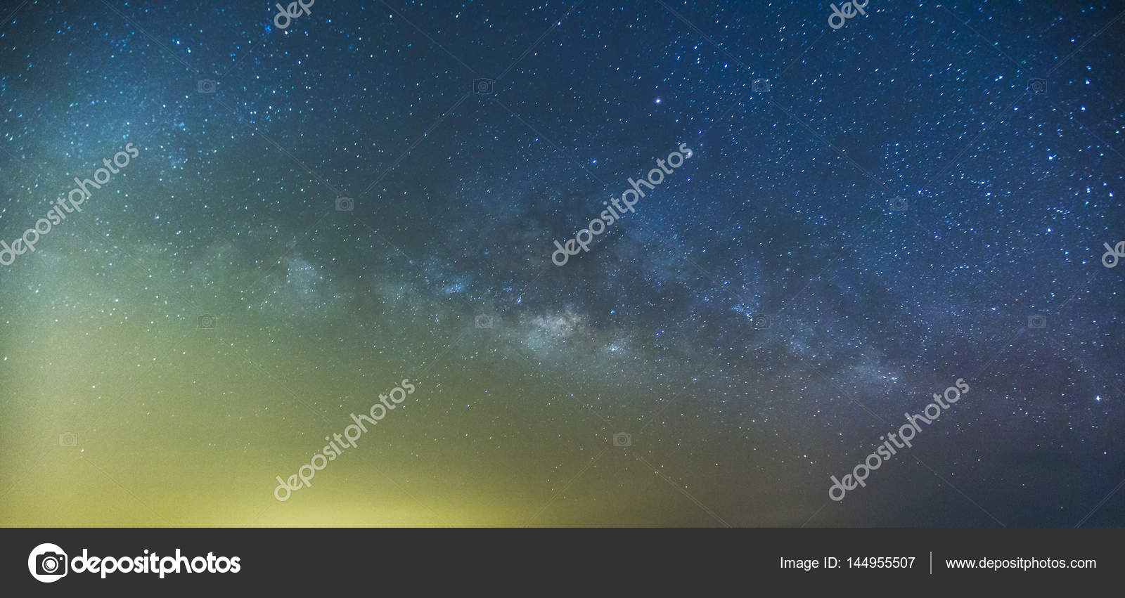Milky Way and the starry sky captured from a full frame camera long ...