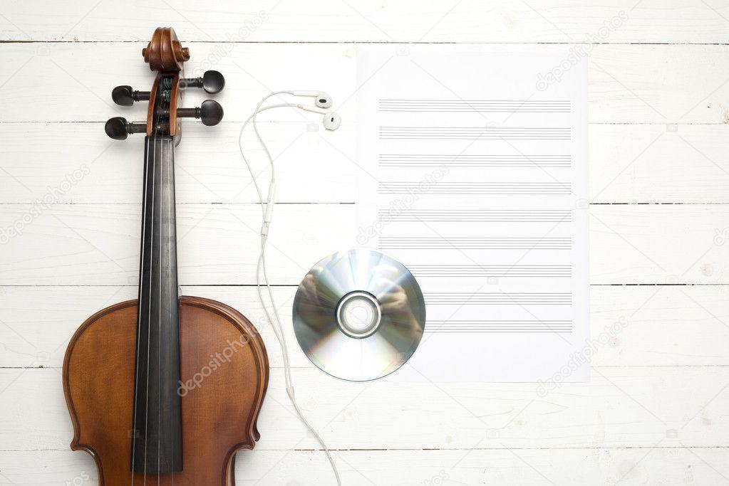 Скрипка из бумаги 5