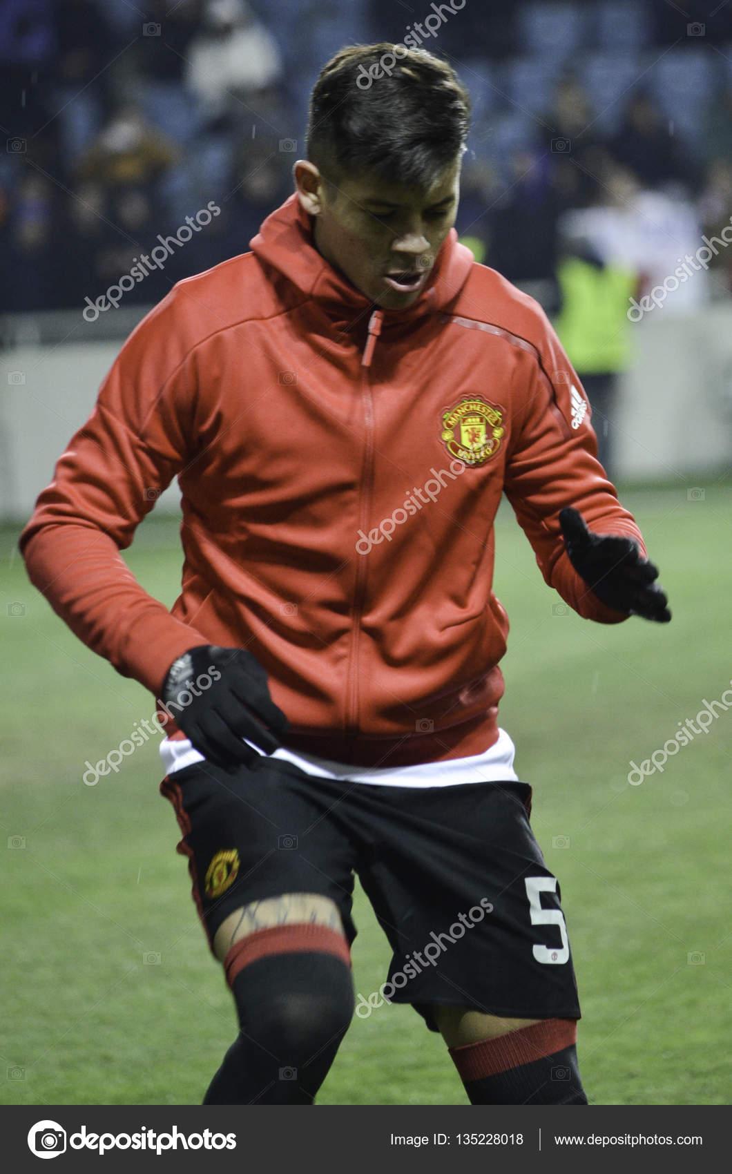 Odessa, Ucrania - 08 de diciembre de 2016: Marcos Rojo en la Uefa ...