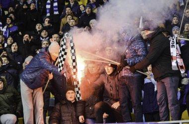 UEFA Champions League match between Dynamo Kiev vs Besiktas