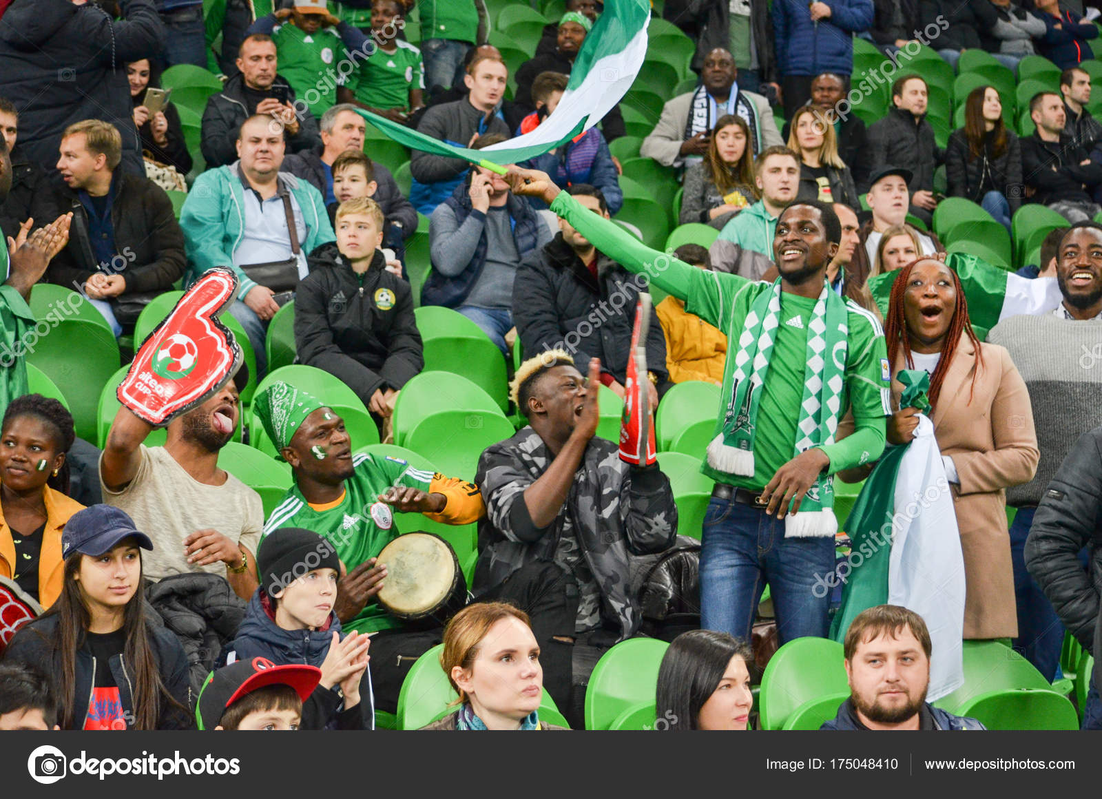 Krasnodar Russia November 14 2017 Nigerian Supporters Suppo Stock Editorial Photo C Vldv 175048410
