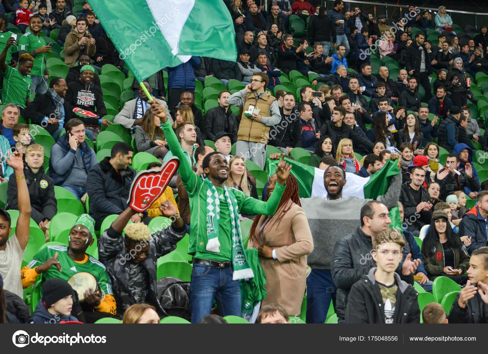 Krasnodar Russia November 14 2017 Nigerian Supporters Suppo Stock Editorial Photo C Vldv 175048556
