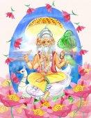 Brahma sedí na lotus