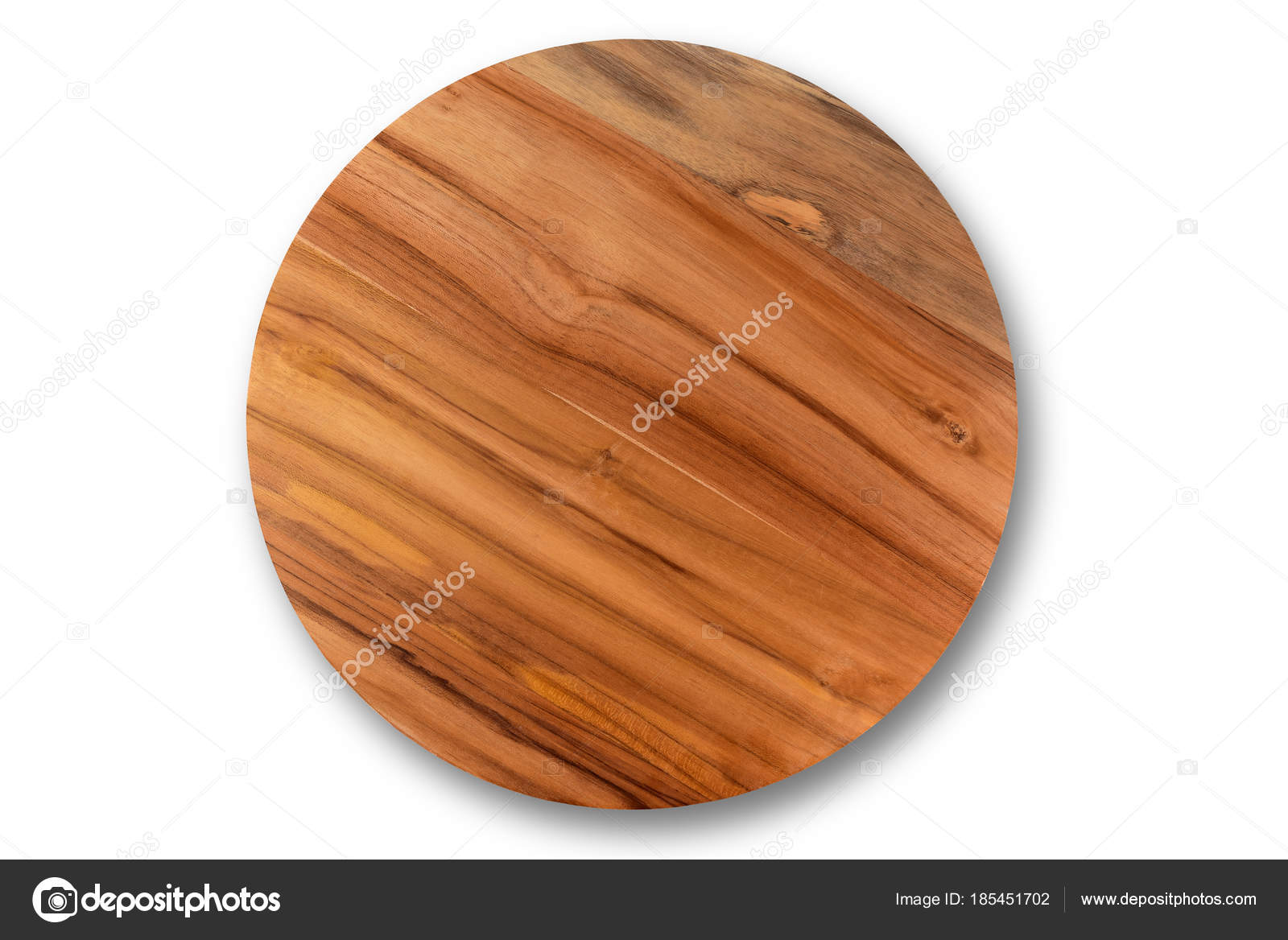 Wooden Cutting Board Isolated White Background Stock Photo C Mkpk 185451702