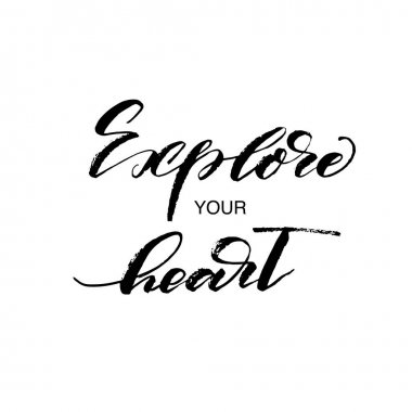 Explore your heart postcard.