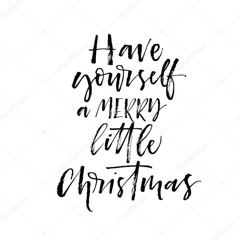 Heb zelf een merry little Christmas briefkaart — Stockvector ...