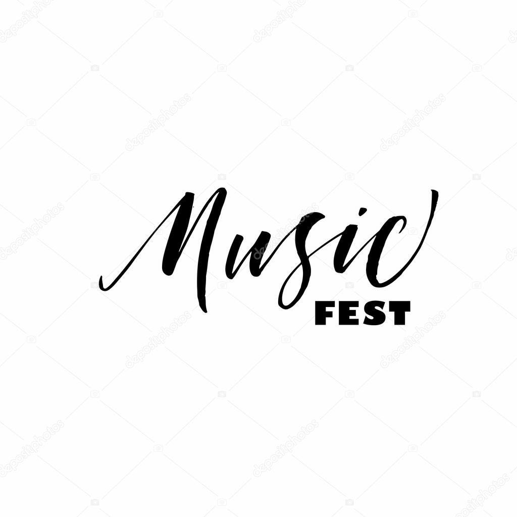 Frase De Festival De Música Vector De Stock Gevko93