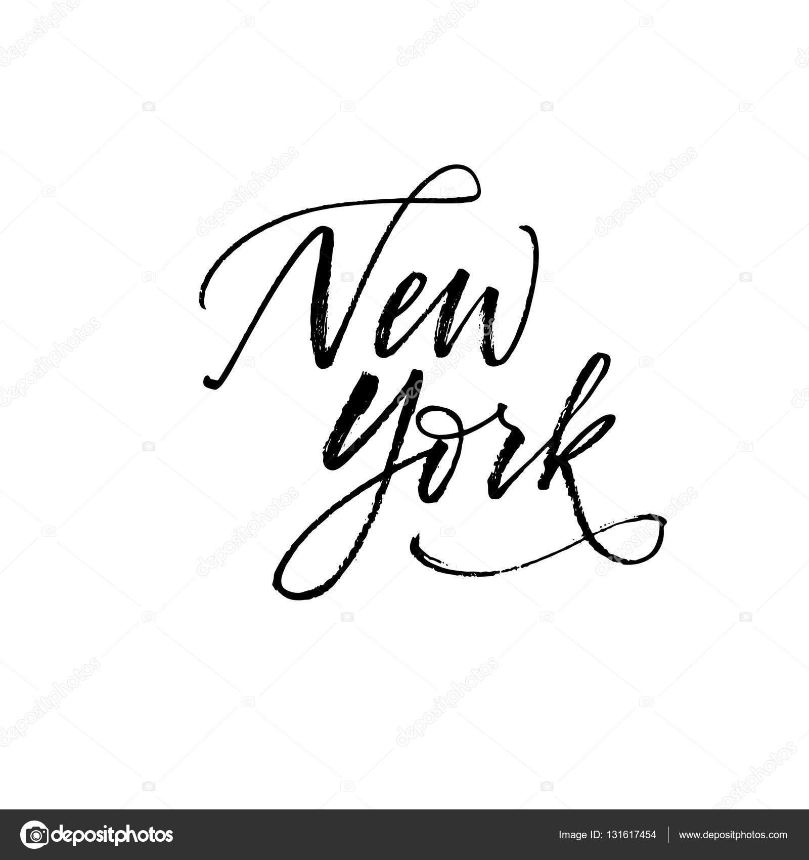 Frase Nueva York — Archivo Imágenes Vectoriales © gevko93 #131617454