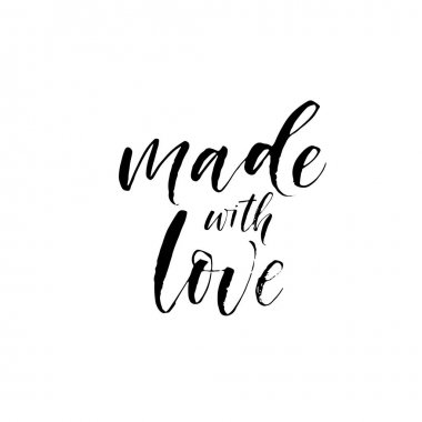 Made with love phrase.