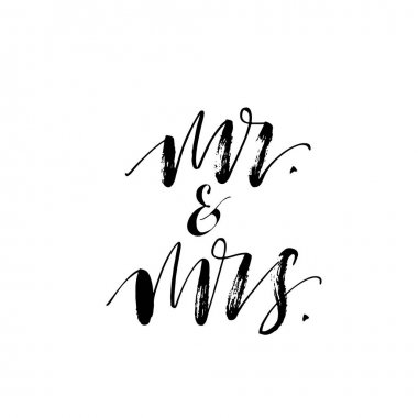 Mr and mrs card.