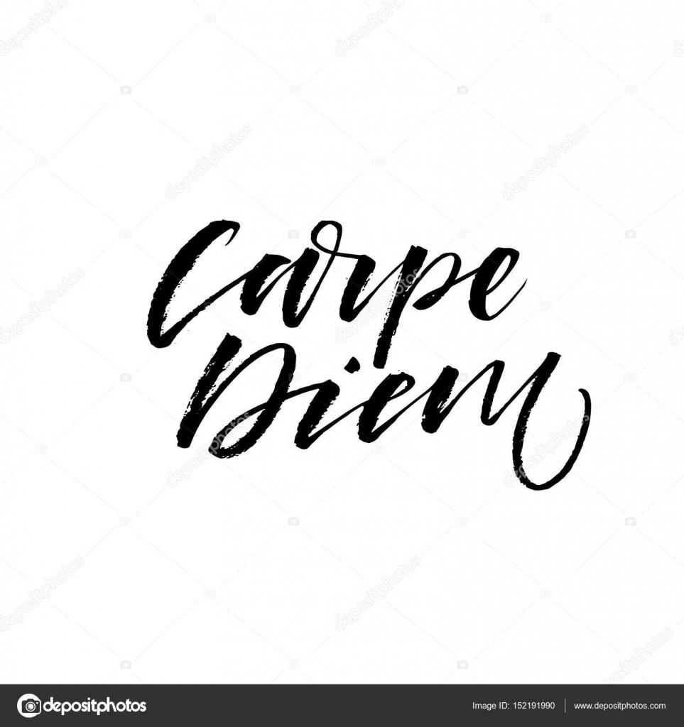 7b8bf98f57c6 Το carpe diem - Λατινική φράση σημαίνει απαθανατίσετε τη στιγμή.  Εμπνευσμένο παραθέτω. Εικονογράφηση μελάνι. Σύγχρονη πινέλου καλλιγραφίας.