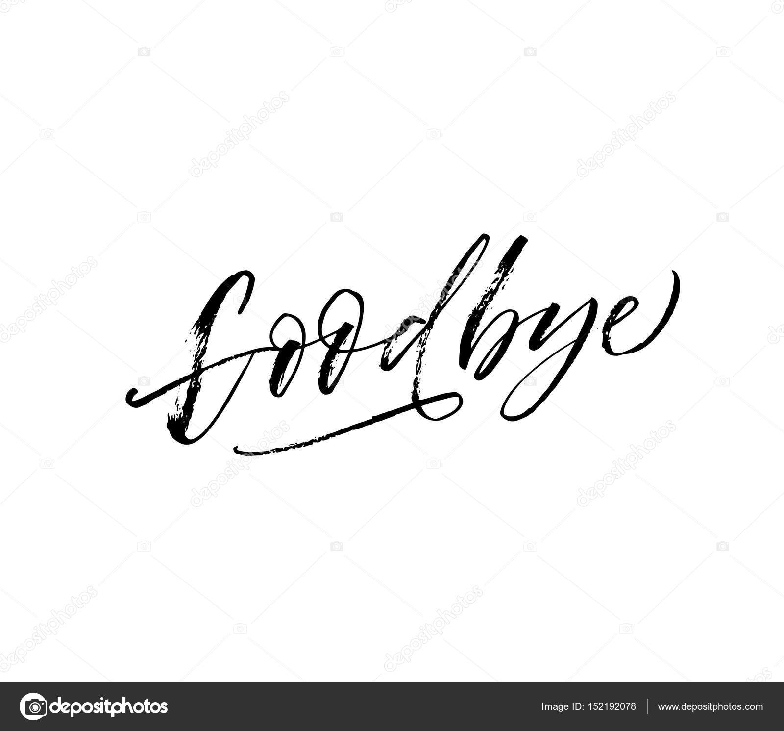 Goodbye hand drawn lettering — Stock Vector © gevko93
