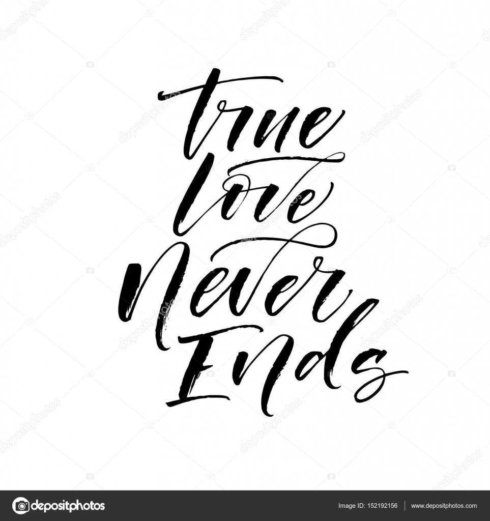 True Love Never Ends Card Stock Vector Gevko93 152192156