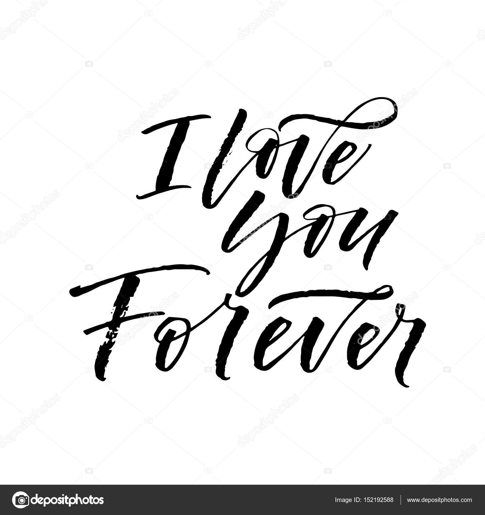 Eu Te Amo Para Sempre Pela Frase Vetores De Stock Gevko93 152192588