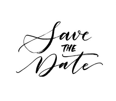 Save the date postcard.