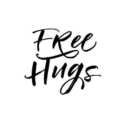 Free hugs postcard.