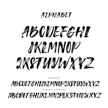 Set of hand drawn alphabet letters.