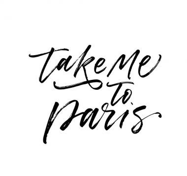 Take me to Paris postcard.