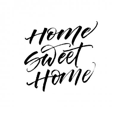 Home sweet home card.