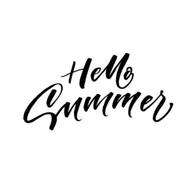 Hello summer postcard.