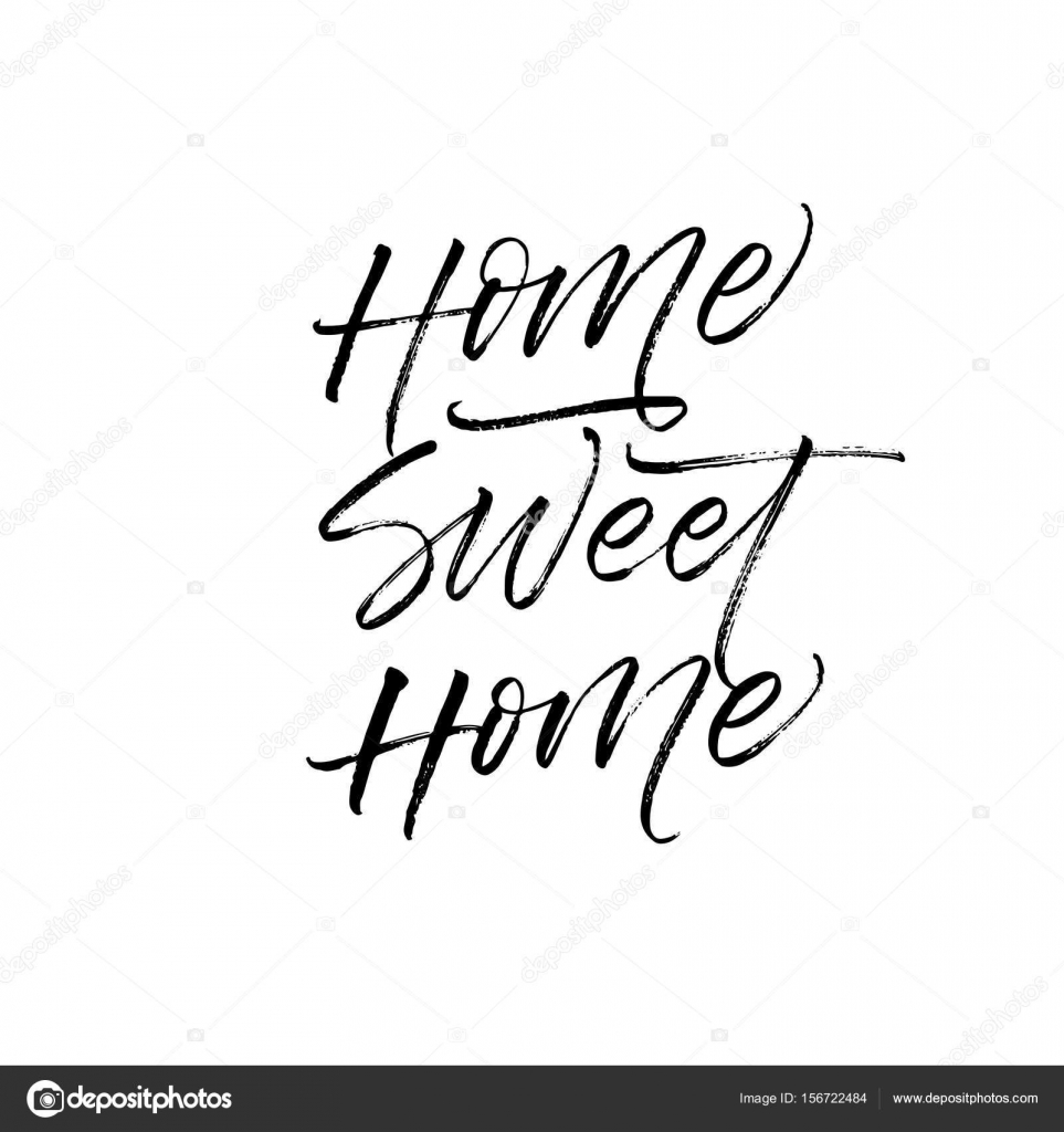 Home Sweet Home Card Archivo Imágenes Vectoriales