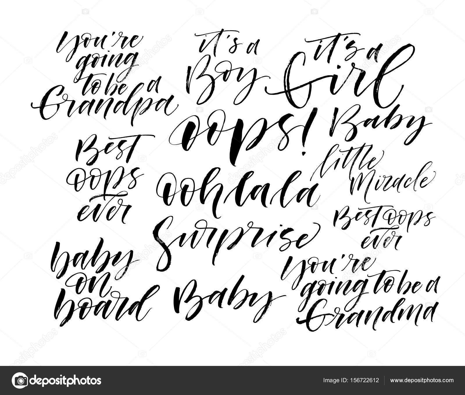 collection of baby s phrases stock vector gevko93 156722612