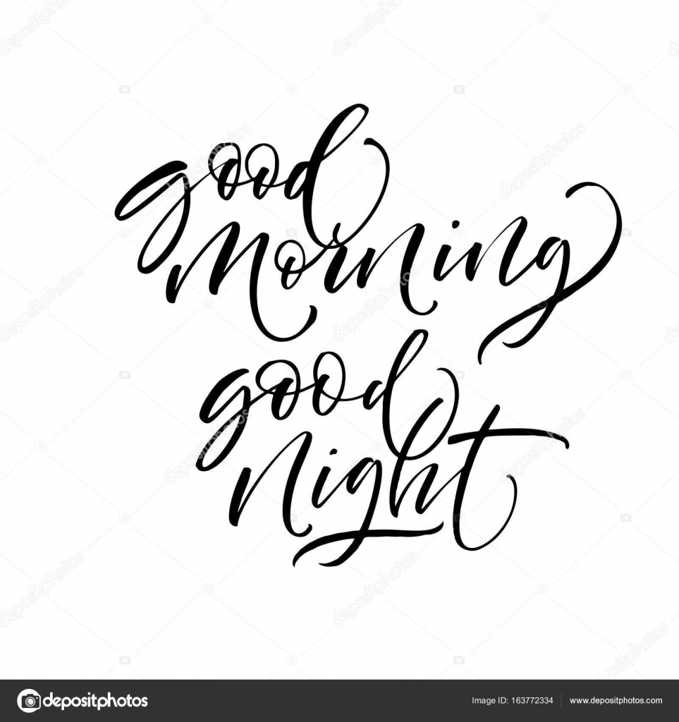 Good Morning And Goodnight In French : Bonjour et bonne nuit phrases image vectorielle