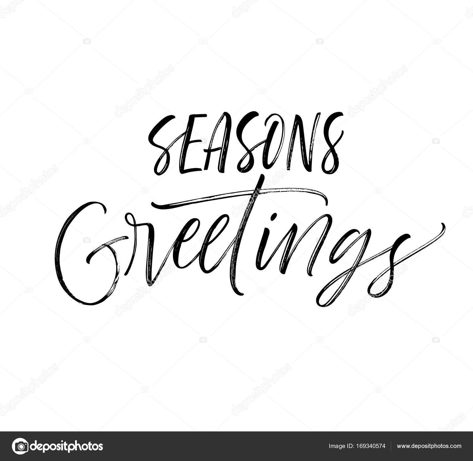 Seasons Greetings Phrase Stock Vector Gevko93 169340574
