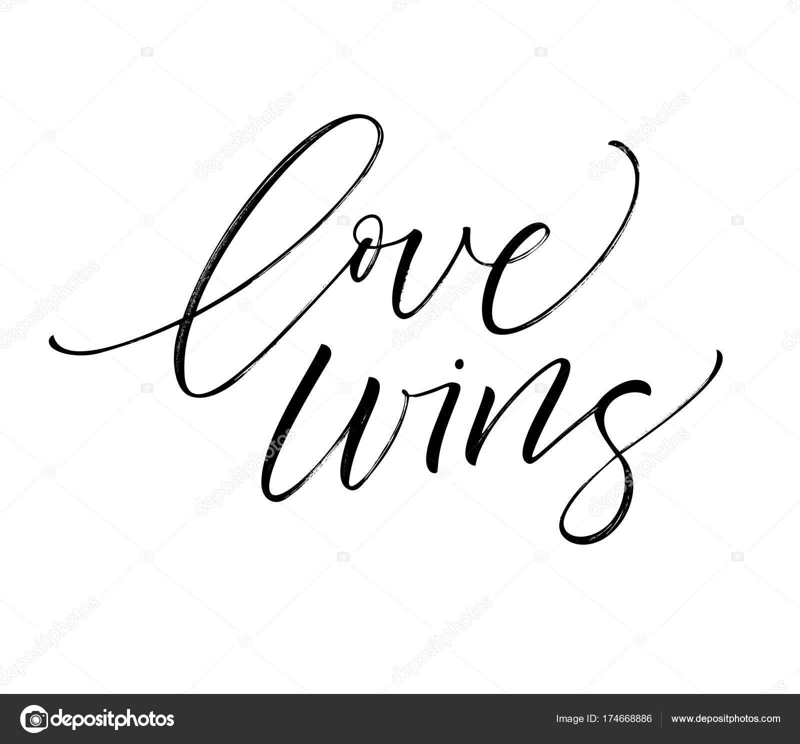 Love wins card  — Stock Vector © gevko93 #174668886