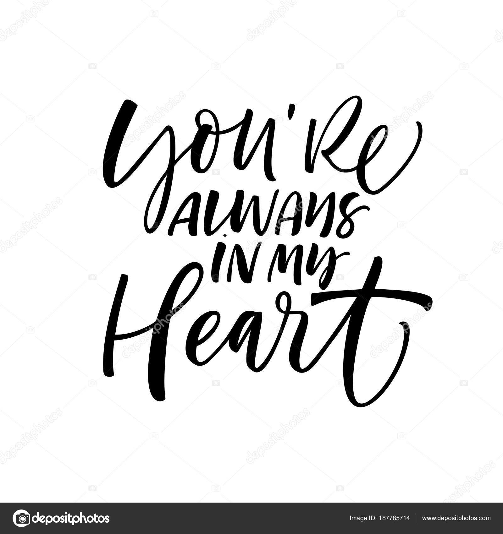 Fondo Frases De Caligrafia De Amor Siempre Estas Frase Corazon