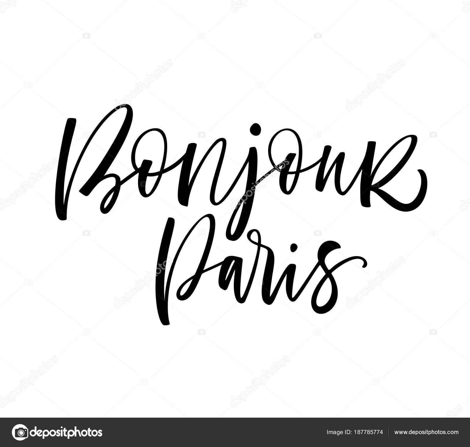 Imágenes Paris Con Frases Frase Bonjour París Hola Frase