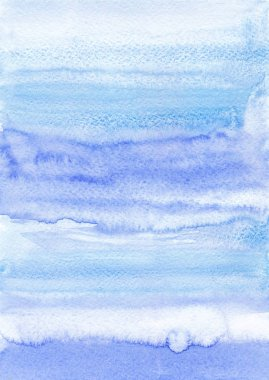 Hand drawn watercolor background. Ultramarine and blue colour. Watercolor abstract background with gradient.