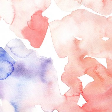 Hand drawn watercolor background. Pink and blue colour. Abstract watercolor gradient background.