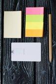 Fotografie Corporate Identity Design template.mock, USB-Flash-Bussines Karte, Stift, Handy, Handtasche, Laptop, Uhr
